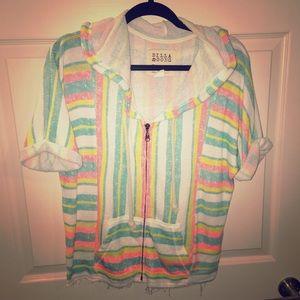 Multicolor zip up jacket (medium)